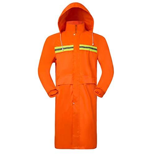Dinglihuaqu bestendige douchebestendige regenafstotend windbestendig outdoor-eendelig lange regenjas voor mannen en vrouwen windjack Patrol Wax Raincoat XX-Large