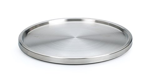 RSVP International Turntable Lazy Susan Stainless Steel 105  Handy in Cabinet Refrigerator or on Counters  Organize Spices Canned Foods Pots Pans Dinnerware 105 Inch