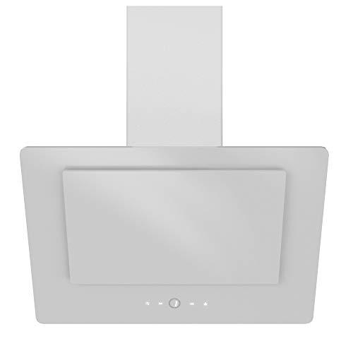 VLANO NEO PLASM EEK A++ Kopffreie Dunstabzugshaube 60 cm Wandhaube Glas Touch Control ECO LED Brushless Motor PLASMA Umluft Filter (weiß/white)