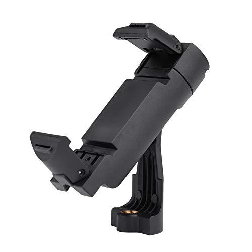 Cucudy Adaptador de montagem de tripé de telefone celular Suporte dobrável para telefone portátil Clip para smartphone com braçadeira ajustável Cabeça giratória de interface de 1/4 de polegada