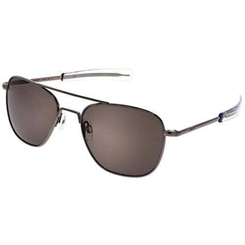 Randolph Gunmetal Classic Aviator Gafas de sol para hombre o mujer, 100% UV
