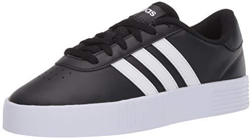 adidas womens Court Bold Skate Shoe, Black/White/Black, 7.5