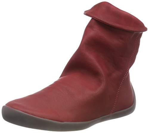 Softinos Softinos Damen NAT332SOF Washed Leather Stiefel, Rot (Scarlet), 39 EU