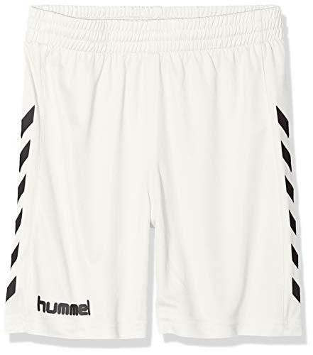 hummel Jungen Sporthose Kurz-Core Poly Shorts-Trainingshose Herren Hohe Bewegungsfreiheit-Laufshorts, weiß Pr, 140-152 (L)