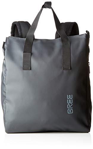 BREE Collection Unisex-Erwachsene Pnch 732, Backpack Rucksack, Schwarz (Black), 12x38x32 cm