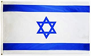 hxflag Israel Flag 3x5 Foot Israeli National Flags with Brass Grommets 3 X 5 Ft
