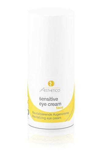 AESTHETICO sensitive eye cream - Reichhaltige Anti-Aging-Augenpflege für den empfindlichen Augenbereich, fördert die Wundheilung mit Tigergras für Kontaktlinsenträger, 15 ml