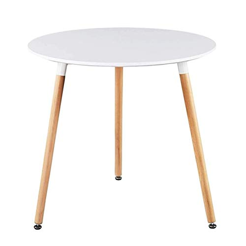 Cages Dining table white round kitchen table Dining table modern office conference table coffee table Natural beech wood legs
