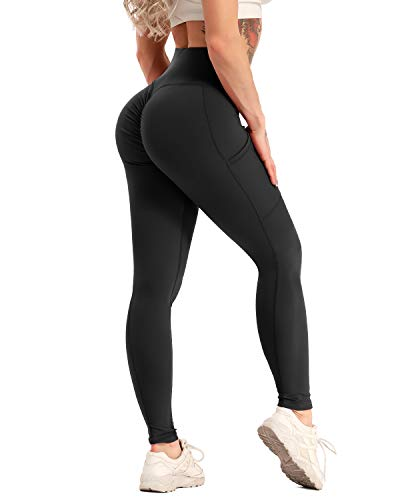 YOFIT Women Ruched Butt Lift Yoga Pants High Waist Anti Cellulite Workout Leggings Tummy Control Tights