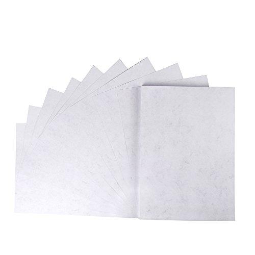 Marmorierter Karton, hochwertige 200 g/qm Qualität, grau, DIN A4, 50 Blatt, Motiv beidseitig
