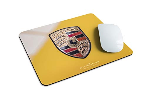 BILDERMEISTER-Mousepad Porsche Wappen mit hochwertiger Geschenkbox