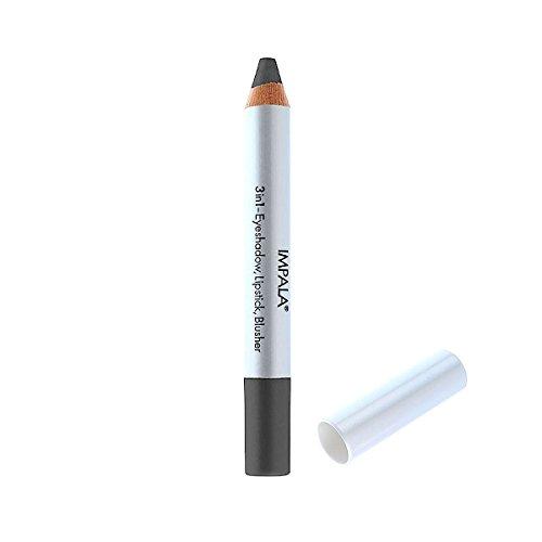 Impala Bleistift 3 in 1 Farbe 19 Grau - Lidschatten, Lippenstift und Blusher