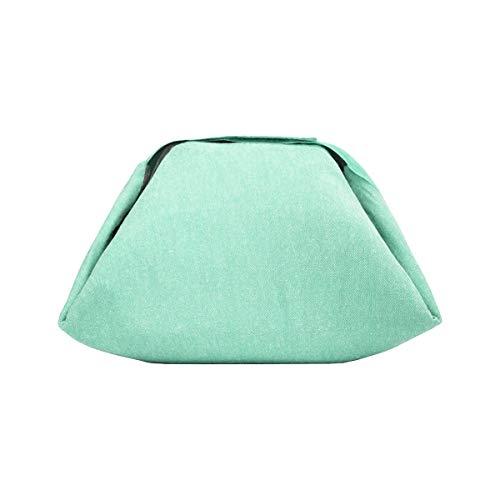 Roll'Eat - Eat'n'Out Mini, 13x17x4,5 cm | Sac Repas, Déjeuner & Set de Table (2 en 1) Écologique - Sac Pique nic Isotherme, Pliable - sans Motif - Couleur Vert