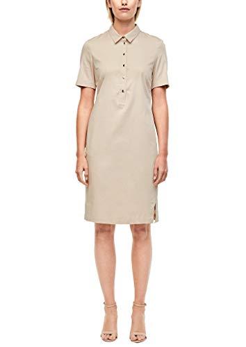 s.Oliver BLACK LABEL Damen Leichtes Hemdblusenkleid beige 42