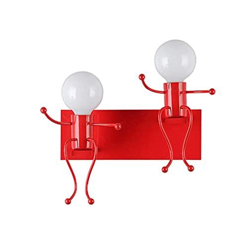 LXDZXY Lámparas de Pared, Lámpara de Pared, Lámpara de Pared Humanoide, Lámpara de Noche para Dormitorio, Aplique Retro Industrial, Accesorio de Iluminación para Sala de Estar, Pasillo, Foco de Pared