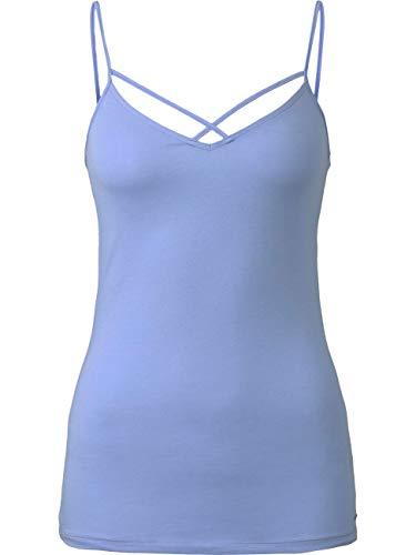 TOM TAILOR Denim T-Shirts/Tops Top mit Bio-Baumwolle  Fresh Light Blue, L, 21348, 6000
