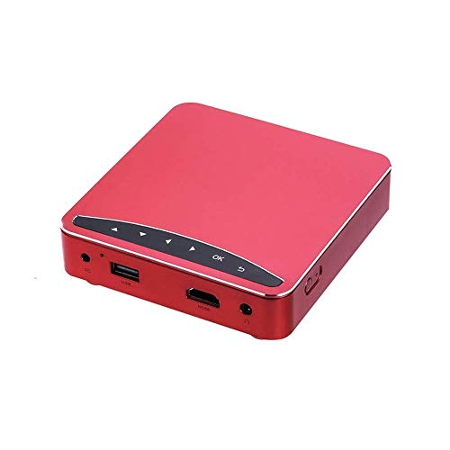 FGDSA Tragbarer Mini-Videoprojektor Home Hd Wireless WiFi-Handprojektor, 2000-3000 Lumen Farbhelligkeit, Projektionsfläche Größe: 20 Zoll ~ 300 Zoll, Geeignet Für Business Office Mobile Portable