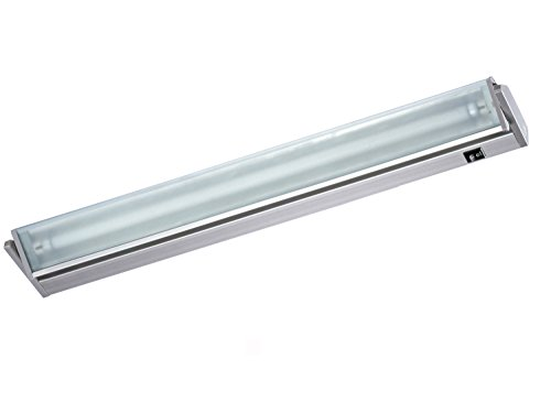 Quellmalz Küchen- und Vitrinenleuchte Vitrinenlampe in den Längen 350 mm - 1212 mm / 230 V Schwenkbereich 45° aluminium kaltweiß T5 Leuchtstoff mit Stecker Wippschalter und Dekorglasscheibe schwenkbare Leuchteinheit Hochvolt Anbauleuchte Anbaulampe Beleuchtung Flächenleuchte Unterbauleuchte Küchenleuchte Küchenlampe Unterbau (912 mm)