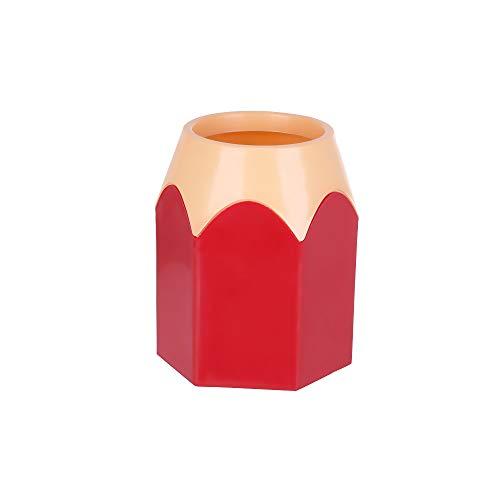 shihao159 Potloodhouder, Nieuwe Tafelpot Organisatie Make-up Desktop Opslag Penseel Container Pen Vaas Rood
