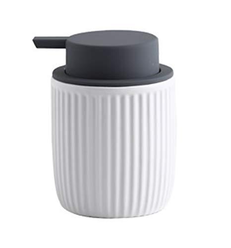Dispensador de jabón de cocina Dispensador de loción Dispensador de jabón líquido de cerámica para lavado corporal, champús, cremas, aceites esenciales Botella líquida duradera Hermoso regalo de recin