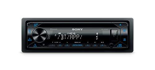 Sony MEX-N4300BT Autoradio mit CD, Dual Bluetooth, USB und AUX Anschluss | Freisprechen | 4 x55 Watt | blau