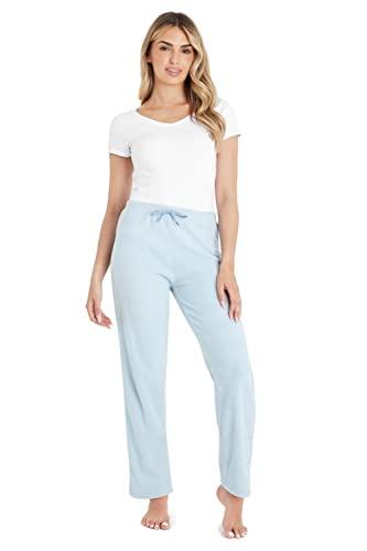 CityComfort Pantalon Pijama Mujer, Pantalon Mujer de Lana, Pijamas Mujer S - XXL, Regalo Mujer (XXL, Azul Cielo)