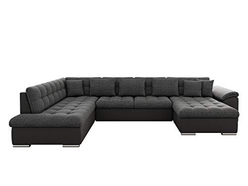 Eckcouch Ecksofa Niko Bis! Design Sofa Couch! mit Schlaffunktion und Bettkasten! U-Sofa Große Farbauswahl! Wohnlandschaft vom Hersteller (Ecksofa Rechts, Soft 020 + Majorka 03)