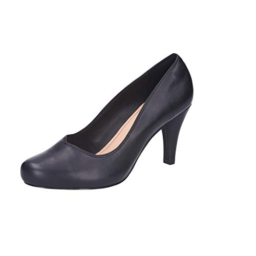 Clarks Dalia Rose, Zapatos de Tacón para Mujer, Negro (Black Patent), 38 EU