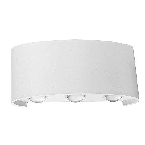 ZYL-IL Nordic lámpara de Pared al Aire Libre llevada de Interior hogar Moderno Escalera Dormitorio Baño de Noche Blanco de la lámpara 6W