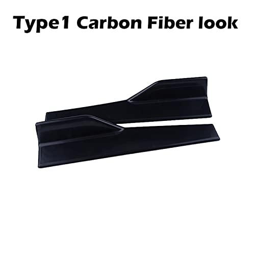 YFJLOVE Coche Lado Faldas Splitters Kit Body Winglet Piezas modificadas Modificadas Piezas Laterales Trasero Spoiler Accesorios para automóviles (Color : Type1Carbon 45cm)