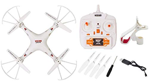 JACK ROYAL App Control Vision Drone with WiFi Camera and 360 Degree Rolling Action Quad-Copter Toy (White)