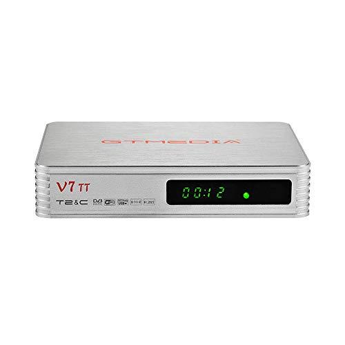 GT Media V7 TT DVB-T/T2 Receiver DVB-C Kabel Tuner Combo Full HD 1080p H.265 10bit mit Antenne WiFi USB / Ethernet, Unterstützung Web TV YouTube CCcam Kabelreceiver für Digitale Kabelfernsehen
