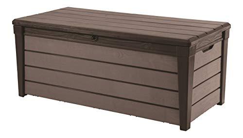 Keter Brushwood WLF - Arcón Exterior, Capacidad 454 Litros, color Marrón