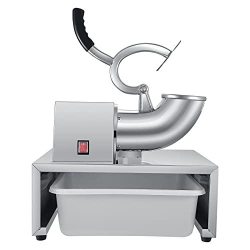 Vogvigo - Tritaghiaccio elettrico per gelato, in acciaio INOX, 1450 giri/min, 250 W