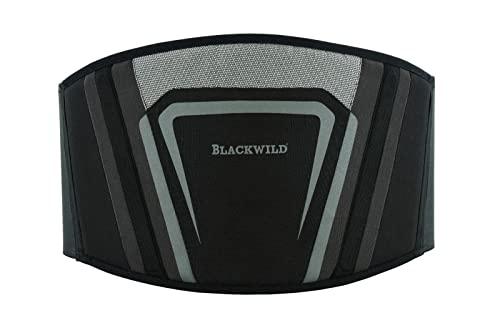 BLACKWILD Nierengurt Motorrad | Nierengurt Motorrad Herren und Damen | Nierenwärmer Lendenwirbelstütze Nierengurt, Effektive Stabilisierung, schwarzgrau (XL = 110-125cm Bauchumfang)