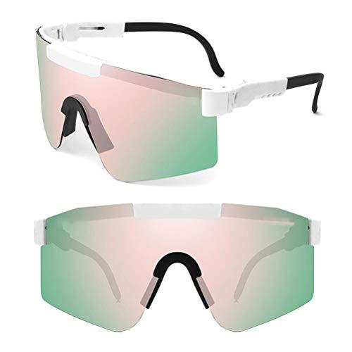 Gafas de sol Deportivas Polarizadas UV400, Gafas de sol de Ciclismo, Gafas de sol Retro, para Hombre y Mujer, para Deportes al Aire Libre Conducción Pesca Ciclismo, Resistente al Viento y a la Arena