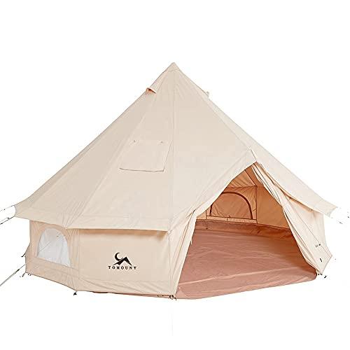 TOMOUNT ベルテント 3m TC テント ポリコットン キャンプテント 3~4人用 多機能 四季適用 アウトドア 撥水 通気 遮光 焚火 ファミリーツーリング 露營場 キャンプ テント ホテルテント