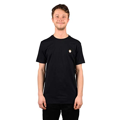 Habitat Skateboards Standard Harper Owl T-Shirt, Bestickt, Schwarz, Größe M
