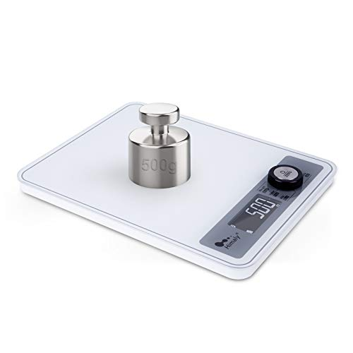 Digital Food Scale, Kitchen Scale for Cooking, Baking, and Weight Loss, Christmas Gift for Holiday Meal Prep (White)