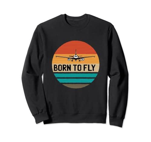 Born To Fly Shirt Camicie da donna Piloti d'aereo Modalità Felpa