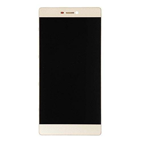 ELECTRONICS MobilePhone REPLACEMENT PART ZY for Huawei P8 LCD-scherm en Digitizer Volledige Vergadering met Frame (zwart) (Color : Gold)