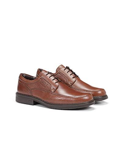 Fluchos | Zapato de Hombre | Clipper 9579 Cidacos Libano Zapatos Confort | Zapato de Piel de Ternera de Primera Calidad | Cierre con Cordones | Piso de Goma Personalizado