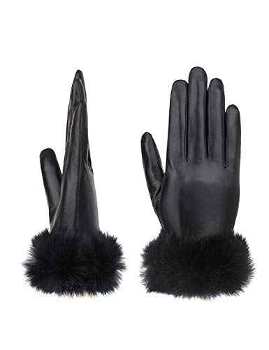 YISEVEN Guanti in pelle di agnello con touchscreen da donna in pelle di agnello regalo