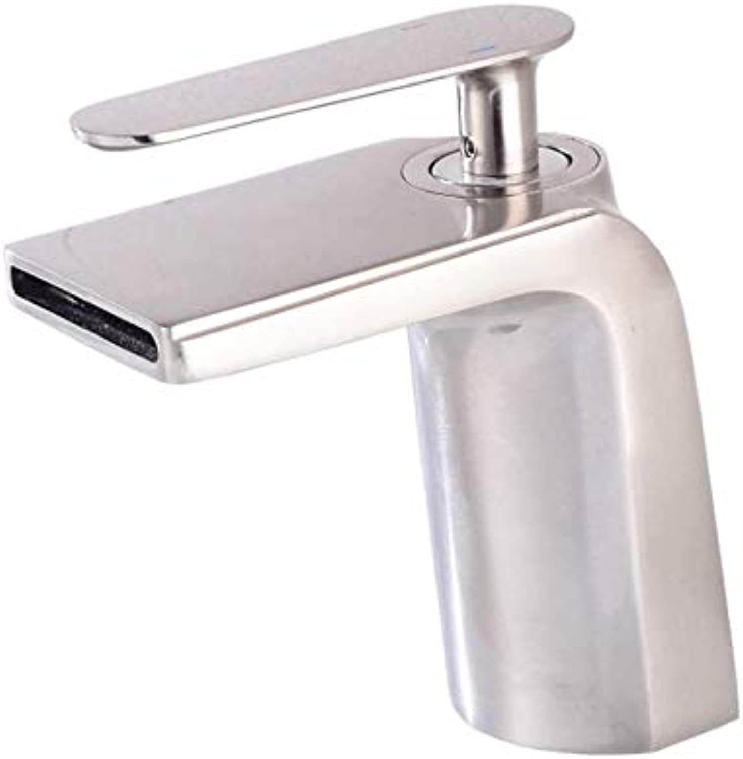Stylish One-Handle Waterfall Faucet Bath Deck Mounted Toilet Single Lever Mixer Faucet Brushed Nickel