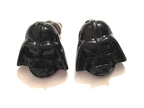 giulyscreations Pendientes de lóbulo Metal Níquel Free Darth Vader Star Wars Star máscara () Jedi Luke Skywalker Disney Logo Saga Pop Cosplay