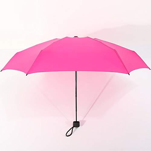 Mini Pocket Umbrella Frauen Kleine Regenschirme 180g Regen Frauen Wasserdichte Männer Sonne Sonnenschirm Praktische Mädchen Travel-Rose rot, China
