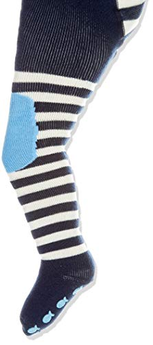 FALKE Baby Strumpfhosen Crawler Boy - 84% Baumwolle, 1 Stück, Blau (Marine 6120), Größe: 80-92