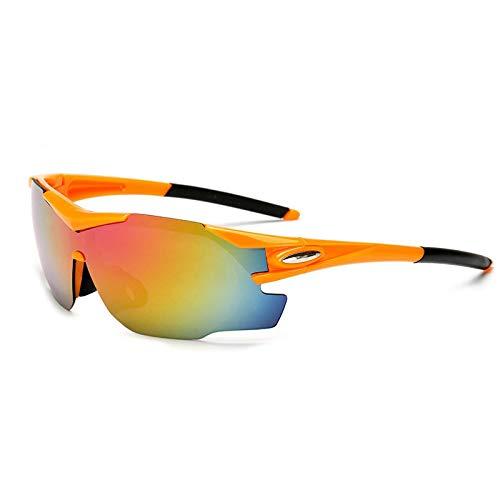 CVMW Nuevas gafas de ciclismo para hombres y mujeres, gafas de sol de bicicleta al aire libre, gafas de sol deportivas, todo tipo de color a juego naranja rojo marco mercurio rojo