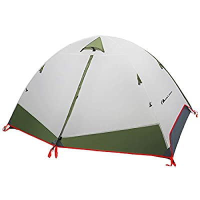 MOON LENCE Camping Tent 1 and 2 Person Backpacking Tent Double Layer Portable Outdoor Lightweight Tent Waterproof Wind Proof Anti-UV for Hiking Fishing Easy Setup
