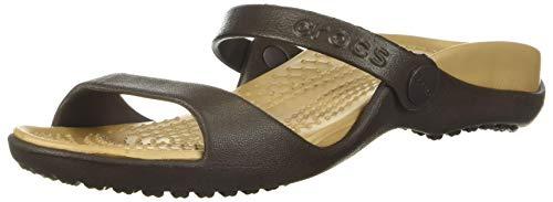 Crocs Cleo, Sandalias de Punta Descubierta para Mujer, Marrón (Espresso/Gold 23q), 37/38 EU 🔥